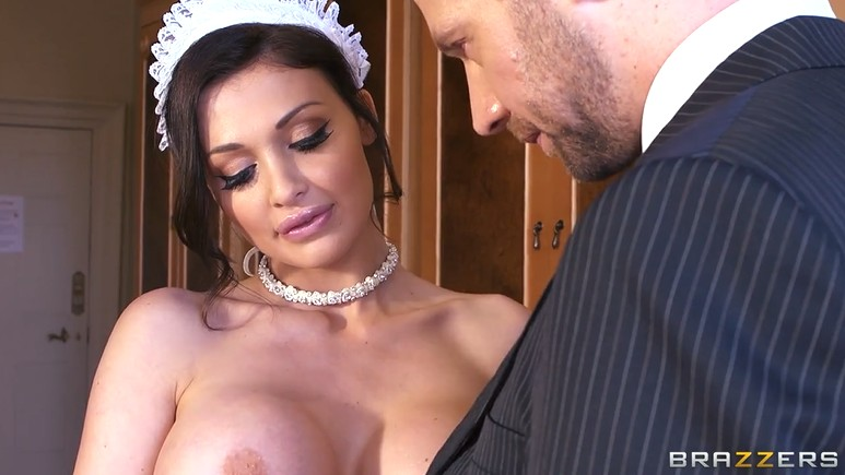 Aletta Ocean is a sexy maid with huge tits