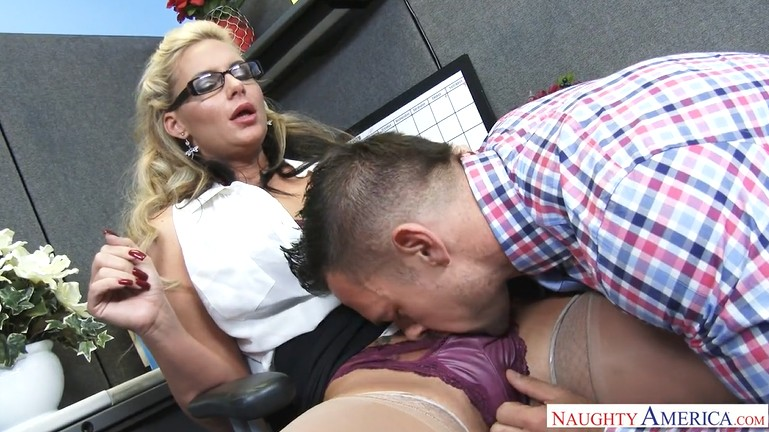 Guy fucked busty milf in the office