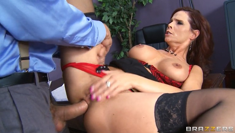 Dirty MILF gets her butt fucked hard in the workplace