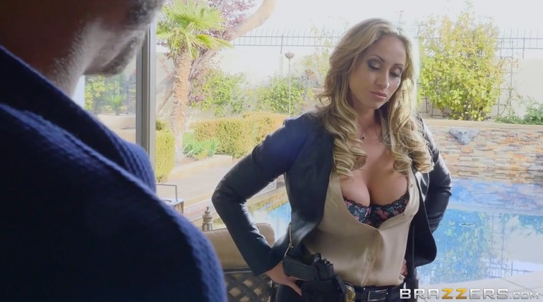 Big tit milf forcibly fucks a young guy