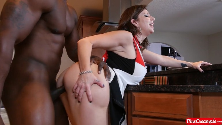 Big Black guy fucks this BBW housewife doggystyle