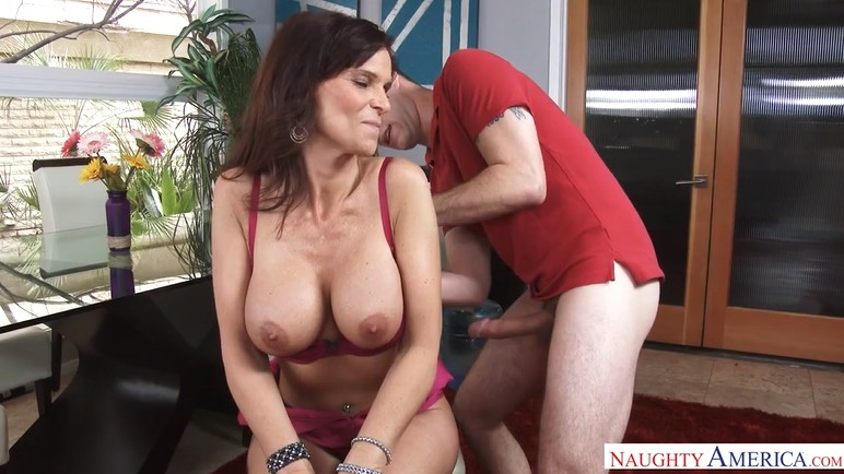 Very hot milf Syren De Mer fucks a young guy