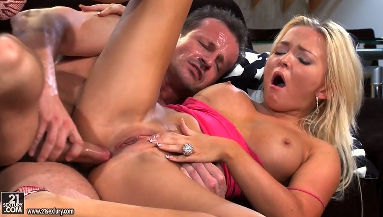 Hot blonde gets anal fucked