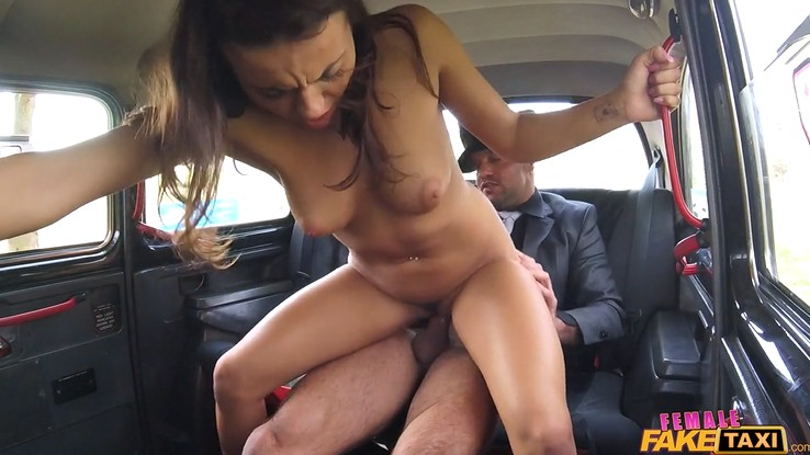 Horny chick gets fucked in the car - pov